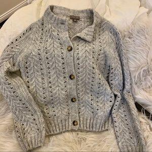 Jcrew point sur pointelle knit cardigan sweater